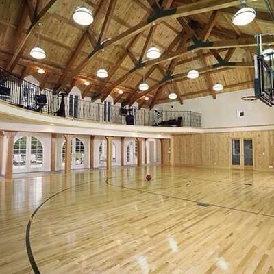 88 best luxury homes 39 special features images on pinterest for Custom basketball court cost
