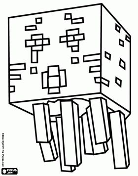 ghast from minecraft a creature resembling a jellyfish ghost coloring page
