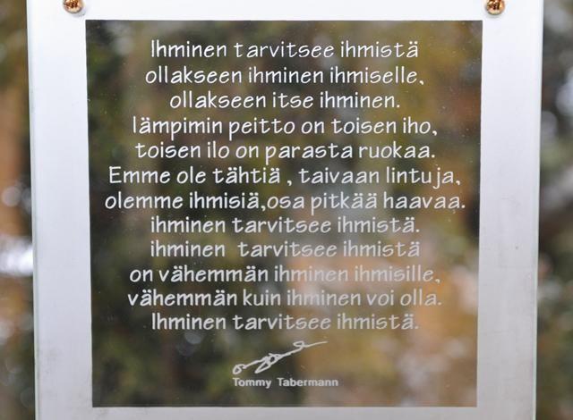 Tabermann Runotaulu Ihmisen Iho   Muurla