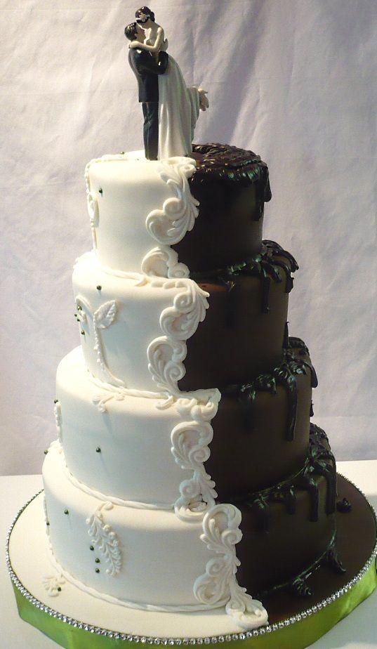 Weddings Bride And Groom Wedding Cake In One
