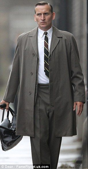 Brit actor Christopher Eccleston cuts a dapper figure on the set of Legend
