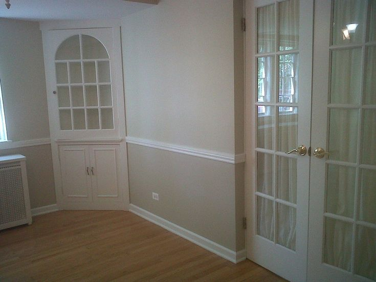 Dining room painting ideas with chair rail google search for Two tone room paint
