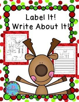 Christmas Writing! Christmas Writing! Christmas Writing! This Christmas writing activity is great for kindergartners, first graders, and English Language Learners and can be used in a Christmas writing literacy center,Christmas writing small group, whole group or as morning work.