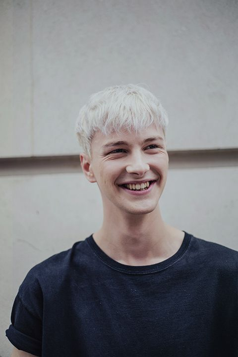 Benjamin Jarvis (Tomorrow Is Another Day) inbetween shows during London Colletions: Men by Ieva Blazeviciute.