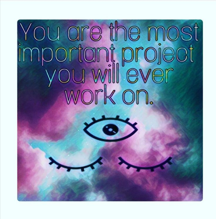 Your the most Important project you will ever work on! 😍