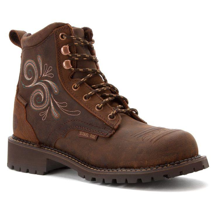 Justin Work Boots Womens Gypsy Steel Toe Western 7 B Aged Bark WKL985