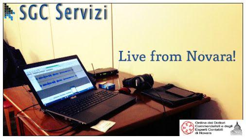 Breaking News: live from Novara! In diretta dall' Ordine dei Commercialisti di Novara per registrare la prima videoconferenza con la SGC. Stay tuned with us! #SGCServices