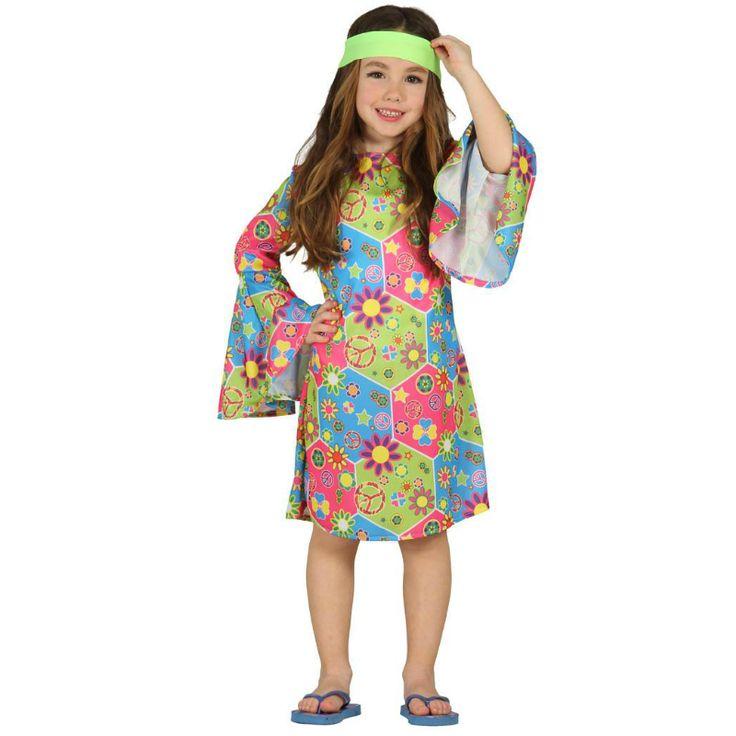 Disfraz de Hippie Flores #disfraces #carnaval