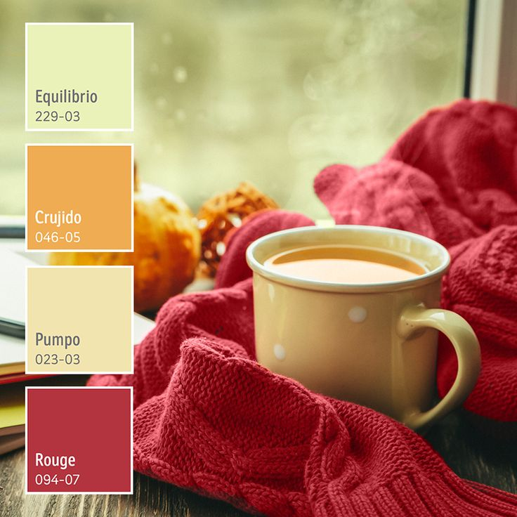 Colores cálidos para el otoño. ¡Encuéntralos en Comex! Colour Combinations, Color Theory, Color Palettes, Instagram Feed, New Homes, Knitting, Tableware, Design, Home Decor