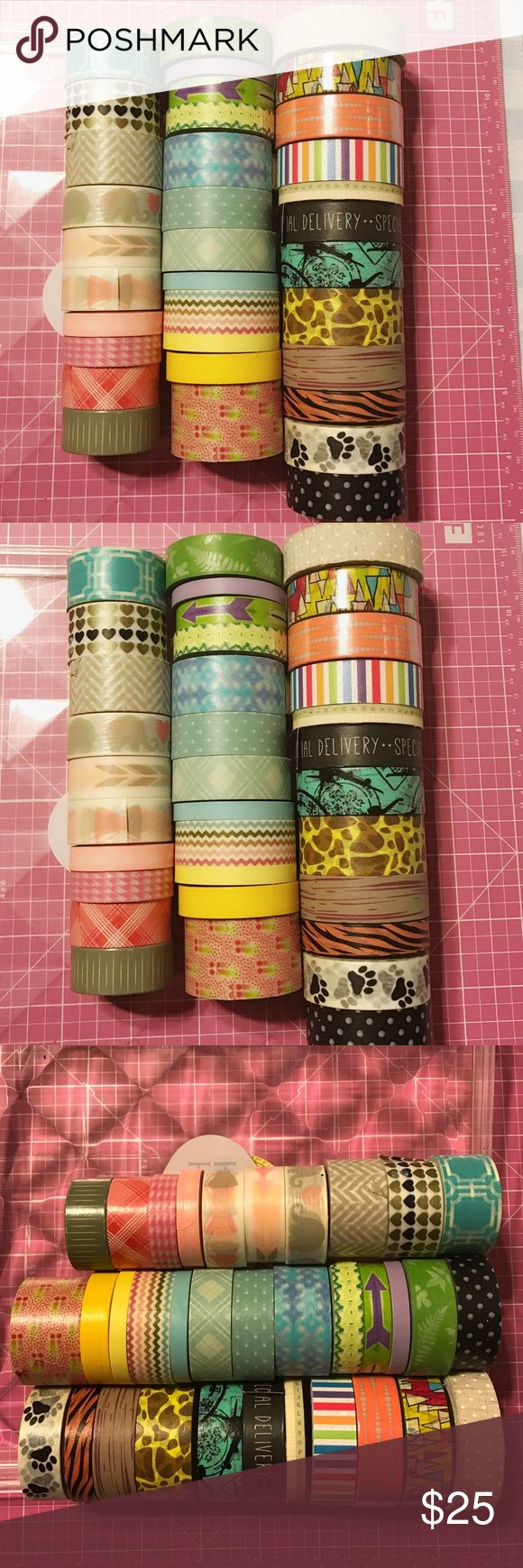 Washi Tape Lot Washi Tape Lot great to use for scrapbooking, planning or Crafty Project. Total of 35 washi tape some used and some brand new. Combination of different place example Micheal's Craft Store, Marshall's, AC Moore, Hobby Lobby and Dollar Tree. Other