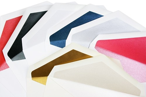 Double & single wedding envelopes lined with stardream metallic paper