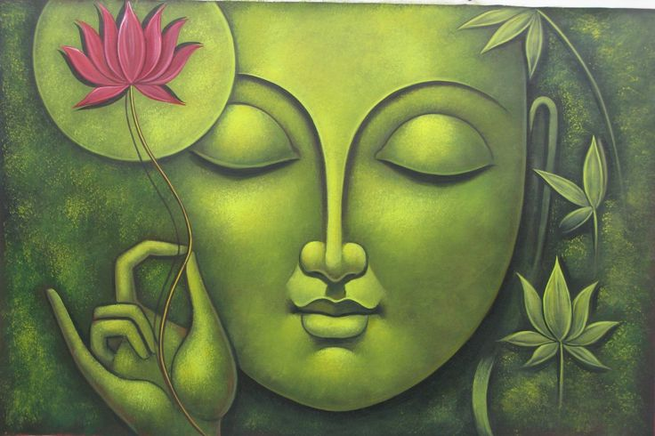 images of buddha meditating paintings - Google Search