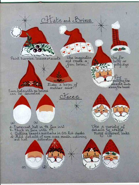 Image result for diy painting santa face - Image Result For Diy Painting Santa Face Christmas Pinterest