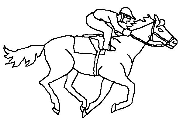 horse racing color pages | Coloring Book Pages