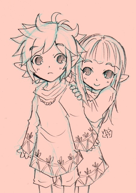 Young Link and Zelda :D so cute!!!!