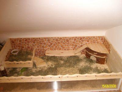 Meerschweinchen Bodengehege mit Steinmosaik