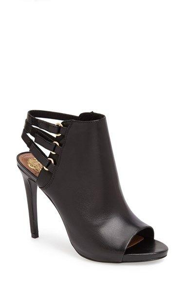 Vince Camuto 'Fenette' Leather Peep Toe Bootie (Women)   Nordstrom