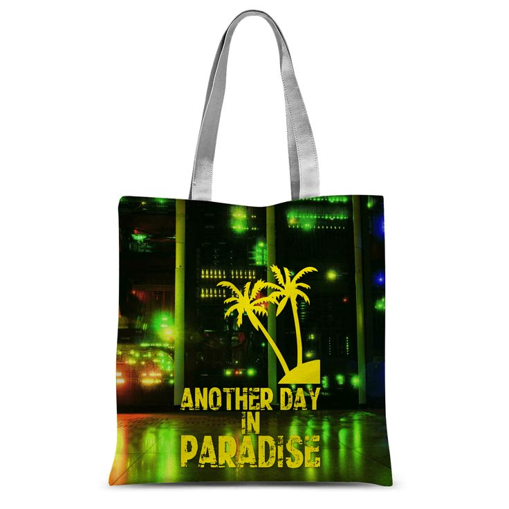 Love and Design Brand - Another Day In Paradise - Computer/IT Staff Tote Bag