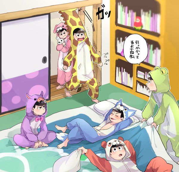 I love Choromatsu in his onesie. HE IS ADORABLE. ESPECIALLY IN THE GAME