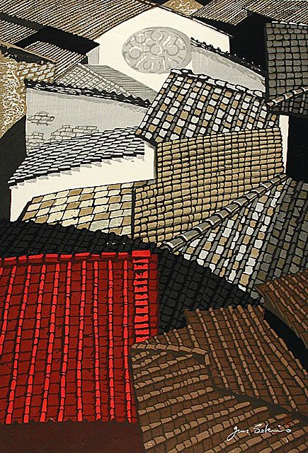 Contrast City with color emphasis: Sekino Jun'ichiro (Japan, Aomori, 1914 - 1988), Roofs in Florence, 1959