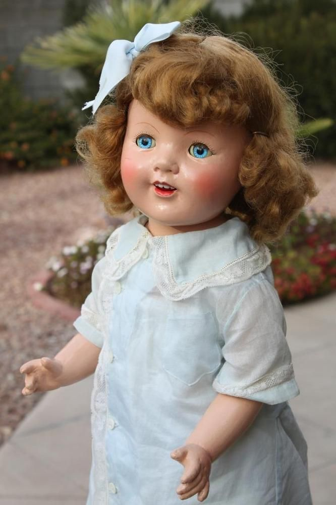 "Rare 27"" Unmarked 1930 Antique Composition & Cloth Arranbee Marianne Mama Doll"