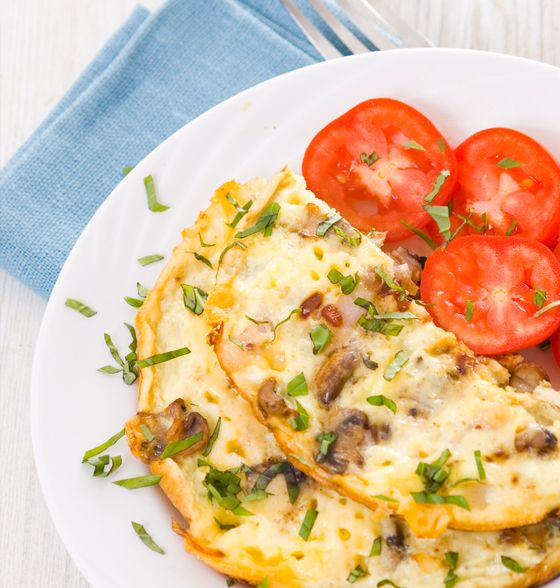 Maxines Burn : Cheese Omlete & Sauteed Vegetables