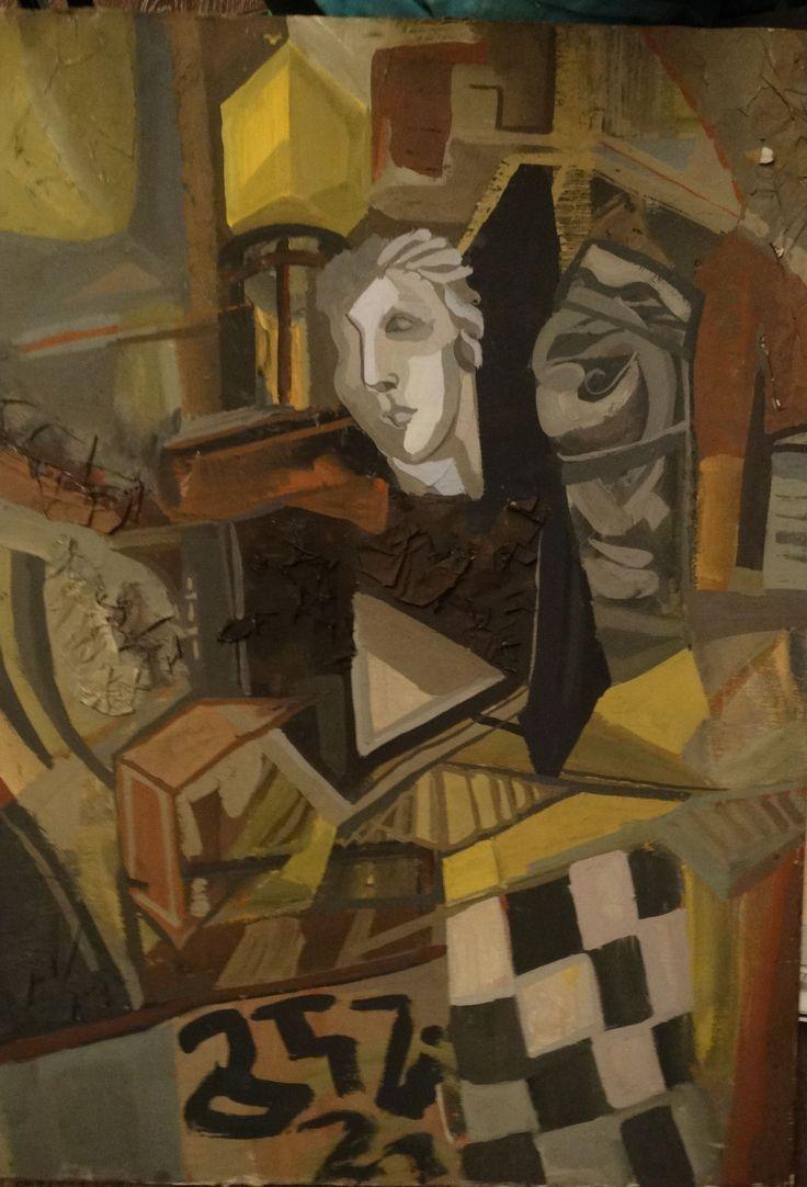 Asja Tustanowska . Still life with plaster head