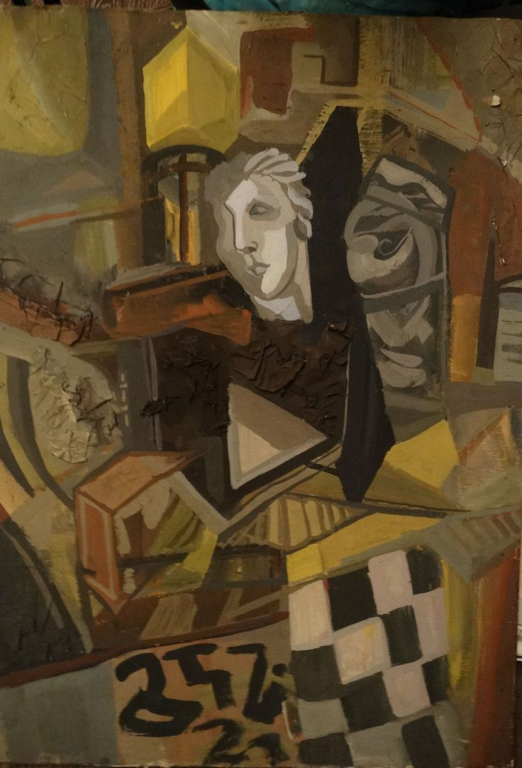 Asja Tustanowska . Still life with plaster head