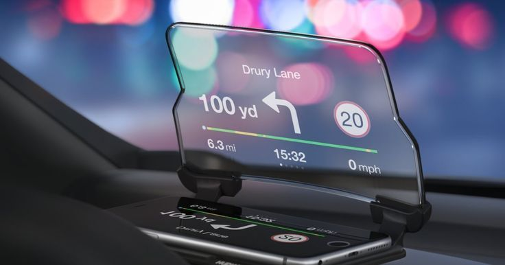 A universal vehicle accessory turning your smartphone into a head-up display (HUD) for any car