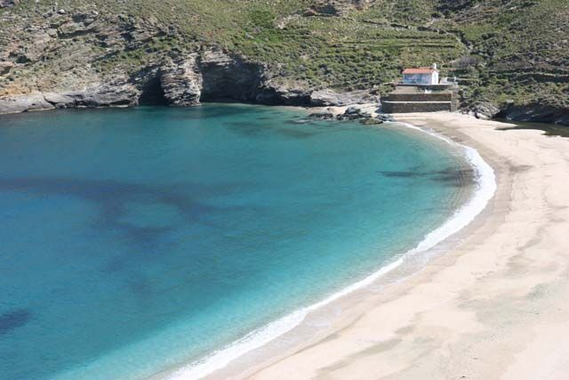 Plage d'Achla Andros | androslocation.com