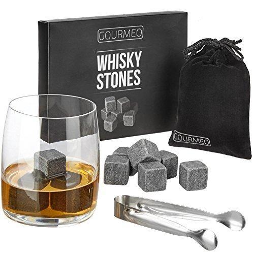 Piedras para whisky (9 piezas) | 2 años de garantía de satisfacción | cubitos de hielo reutilizables.