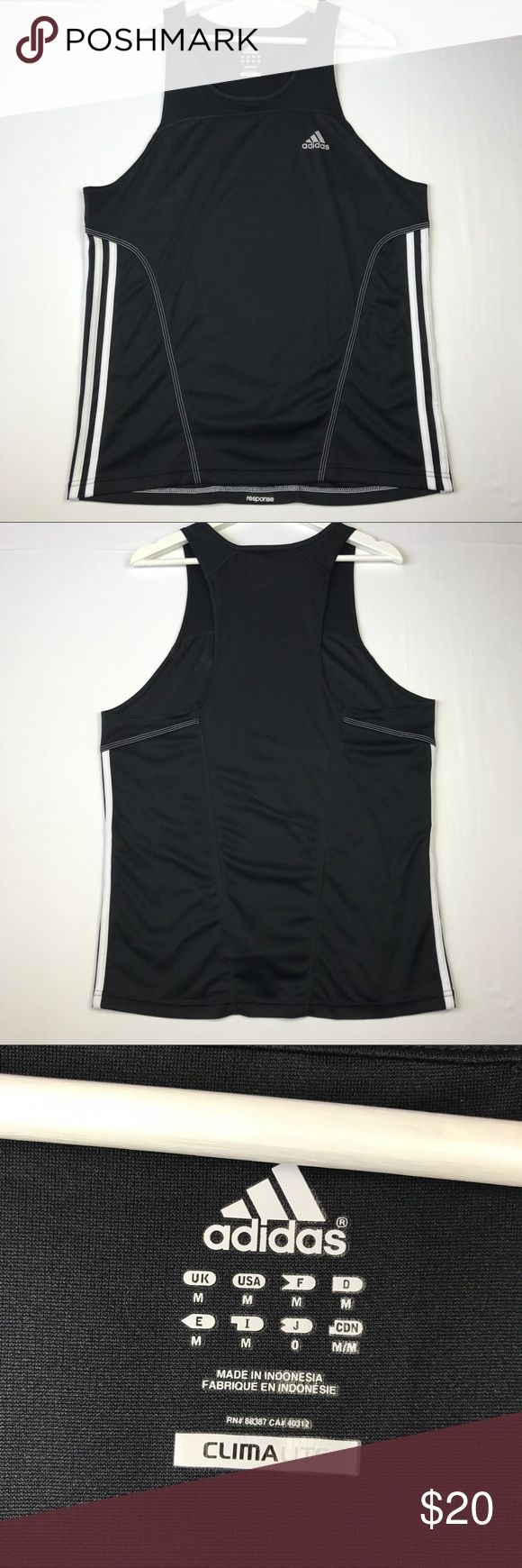 "Adidas response climalite tank top Flat lay measurements:  Chest- 20"" Length- 28"" adidas Shirts Tank Tops"