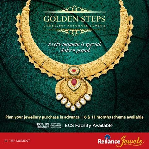 Make the most of your incredible moments by making it extra special for your loved ones & yourself !!!! Now at Reliance Jewels we offer you #GOLDENSTEPS - Jewellery Purchase Scheme. A perfect solution for planning your precious jewellery purchase in advance.  To Know more, Visit: http://www.reliancejewels.com/jewelry_purchaseschemes.html  #Reliance #RelianceJewels #Jewels #Jewellery #BeTheMoment #Moments #Life  #LifeIsNow #February2016