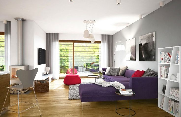 Szarość wcale nie musi być nudna! Przełamana odważnymi kolorami czyni dom cieplejszym. Jakie jest wasze zdanie? ;)