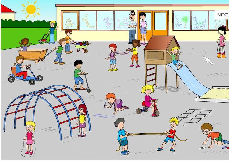 Schoolplein praatplaat