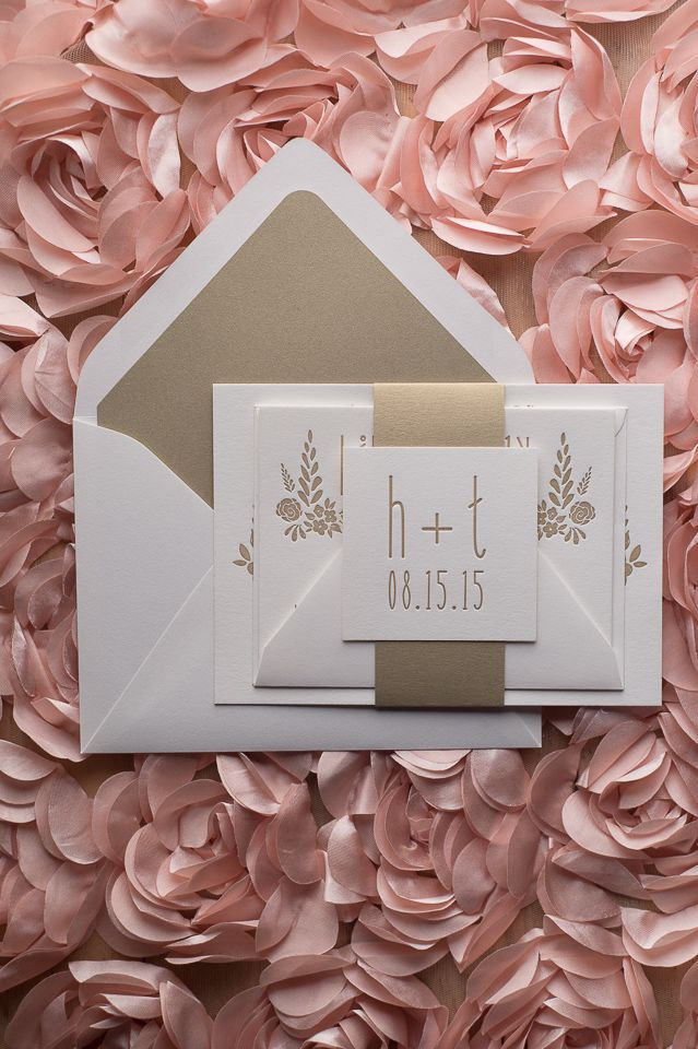 Sweet, Suite Hadley U2014 The Perfect White And Gold Romantic Letterpress Whimsical  Wedding Invitation!