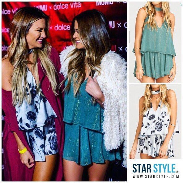 JoJo Fletcher and Becca Tilley wearing Show Me Your Mumu to the Mumu x Dolce Vita Holiday Party http://liketk.it/2pDfl @liketoknow.it #liketkit
