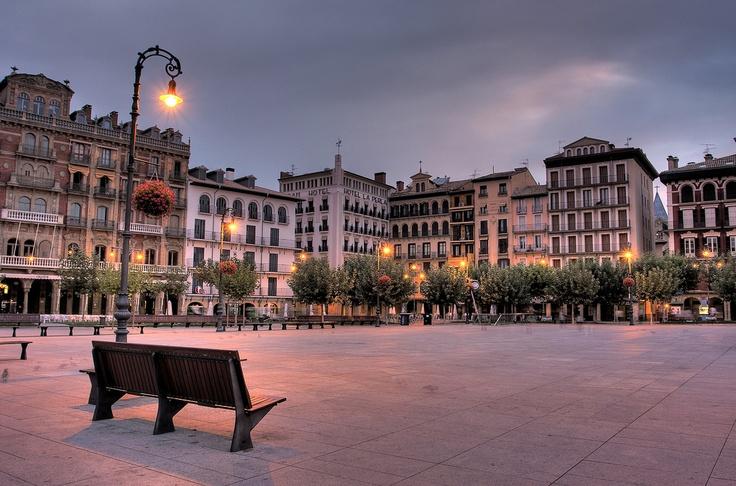 Plaza del Castillo, Pamplona, Navarra, Camino de Santiago