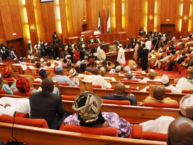 The long standing dispute between the Senate and the Executive arm over the retention ofIbrahim Magu as the acting chairman of the Economic and Financial Crimes Commission (EFCC) took a new turn on Wednesday as the Red Chamber threatened the confirmation of the nomination of Ms. Aisha Ahmad as a deputy governor of the Central Bank of Nigeria (CBN).   President Muhammadu Buhari had forwarded Ahmads nomination to the Senate for confirmation as a replacement for Mrs. Sarah Alade whose tenure…