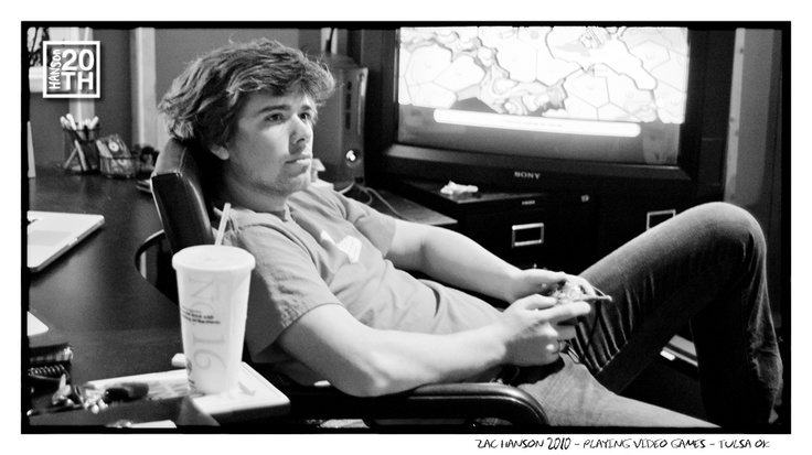 Photo 160 of 365  Zac Hanson 2010 - Playing video games - Tulsa OK	    Here's Zac looking to the side of the camera, while playing Xbox. Gamers, tell us about favorite Xbox games.    #Hanson #Hanson20th