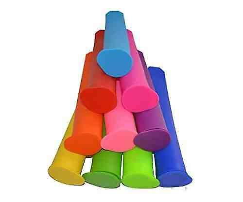 10 Pieces - Silicone Ice Pop Maker Set Ice Pop Forms Molds Popsicles Very Easy To Clean. | Fruugo