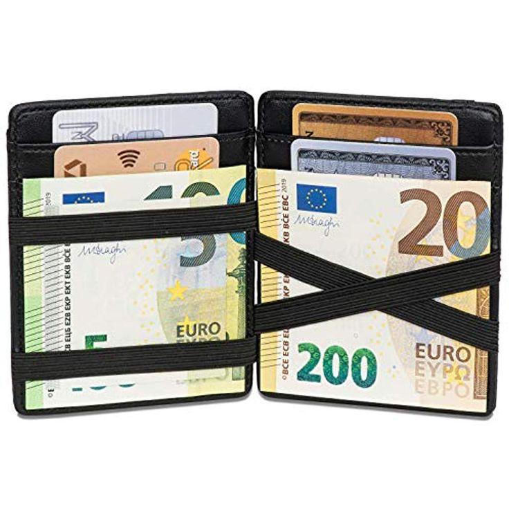 Noah Noir Magic Wallet mit Münzfach – TÜV Geprüfter RFID Schutz 8 Kartenfäch…