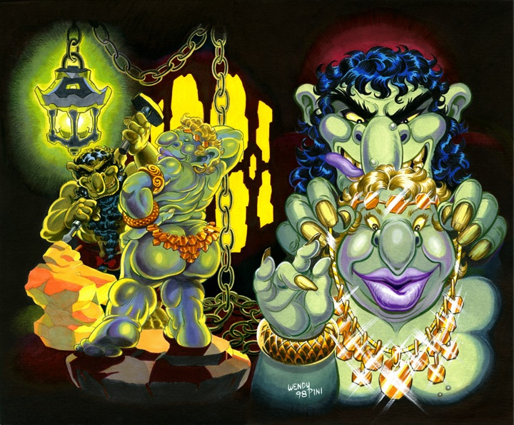 Picknose and Oddbit - yes, there are also trolls in ElfQuest.