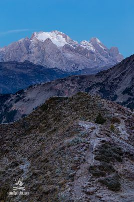 Passo di Giau, in the background Marmolada (Dolomites, Italy)