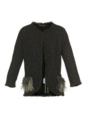 8 MN Embellished Feather Jacket. Buy @ http://thehubmarketplace.com/Embellished-Feather-Jacket