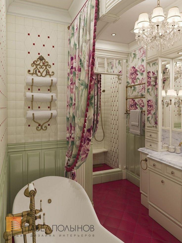 Фото: Дизайн ванной комнаты - Интерьер шестикомнатной квартиры в классическом стиле, Малый пр. П.С., 160 кв.м.