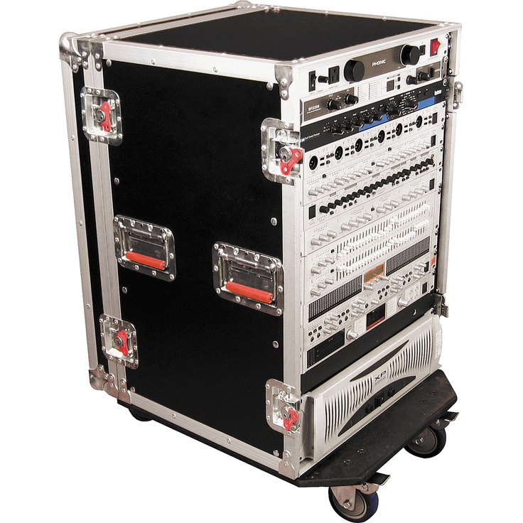 GatorG-Tour Rack Road Case with Casters16 Space, Loaded