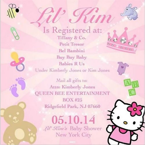 Lil Kim's Baby Shower Registry Info is on Instagram...and I'm dying! Lol