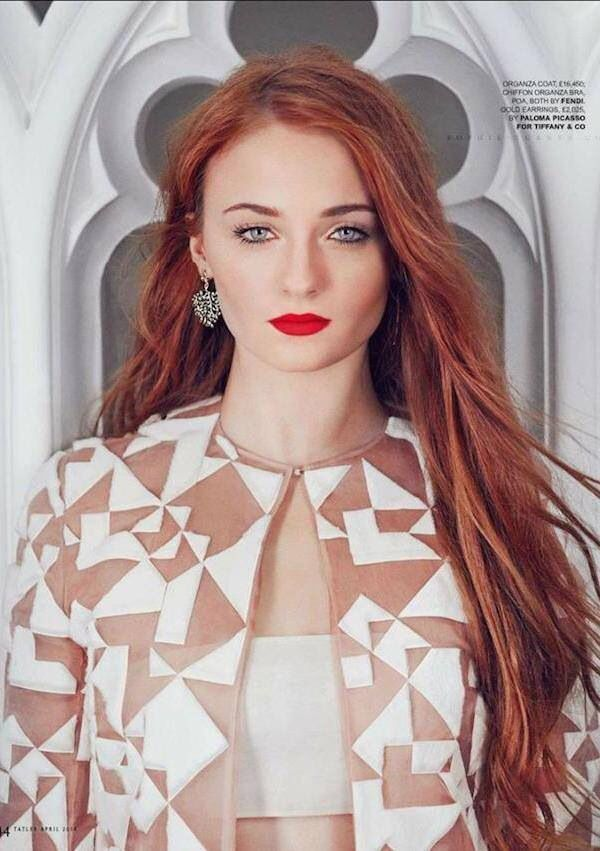i had this really terrific idea a few weeks ago, that Terra's human form should have a female appearance and work as Alycie's publicist. so I figured Sophie Turner would be perfect as Terra. YEAHHH!!!!