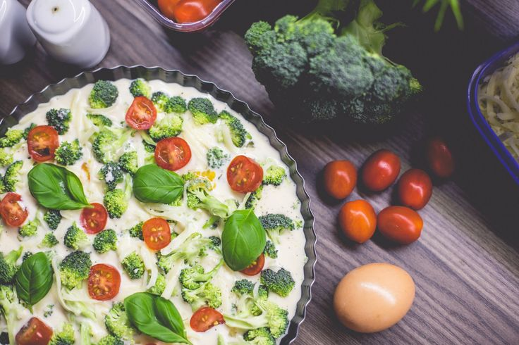raw or cooked - broccoli pie with basil